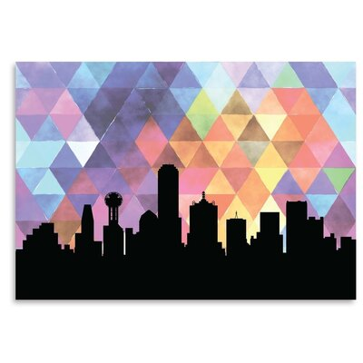 Americanflat 'Dallas Triangle' by PaperFinch Art Print