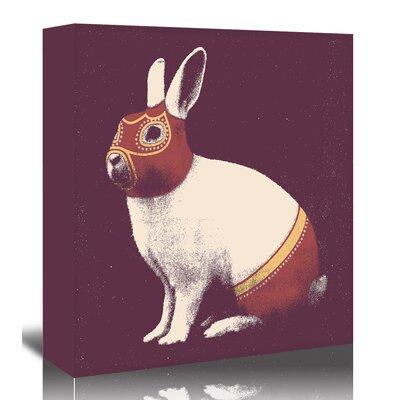 Americanflat 'Rabbit Wrestler' by Florent Bodart Graphic Art Wrapped on Canvas