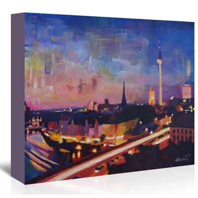 Americanflat Berlin Skyline Dusk 2' by Markus Bleichner Art Print Wrapped on Canvas
