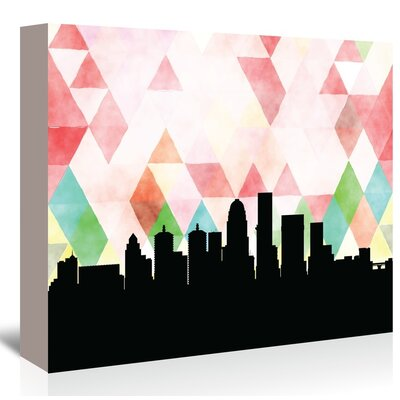 Americanflat 'Louisville_Triangle' by Paper Finch Graphic Art Wrapped on Canvas