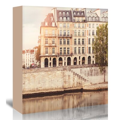 Americanflat 'Paris-Seine' by Mina Teslaru Photographic Print Wrapped on Canvas