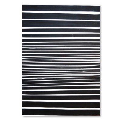 Americanflat 'Black & White Stripes' by Cara Francis Art Print