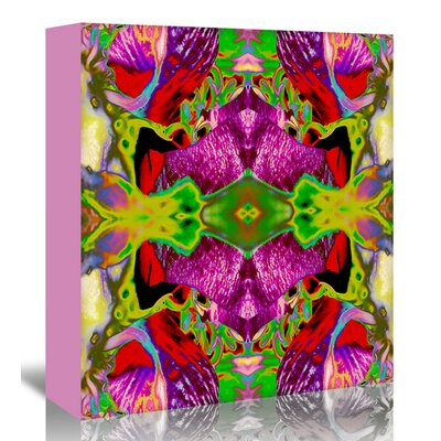 Americanflat 'Neon Rose2' by Rose Anne Colavito Graphic Art Wrapped on Canvas