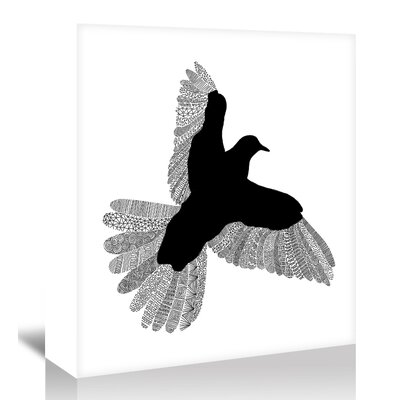 Americanflat 'Bird' by Florent Bodart Graphic Art Wrapped on Canvas