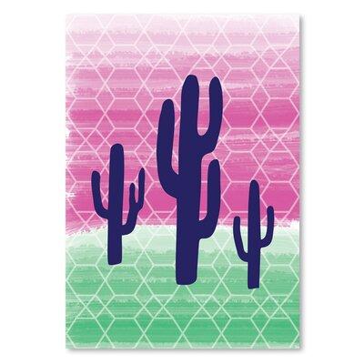 Americanflat 'Geo Cactus' by Ashlee Rae Graphic Art