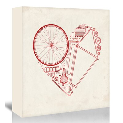 Americanflat 'Love Bike' by Florent Bodart Graphic Art Wrapped on Canvas