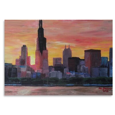 Americanflat 'Chicago Sunset' by M Bleichner Art Print