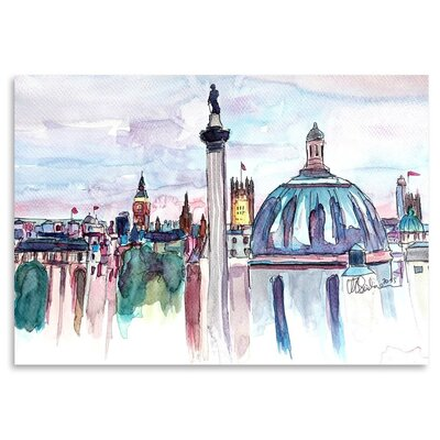 Americanflat 'London Skyline With Big Ben And Nelson' by M Bleichner Art Print