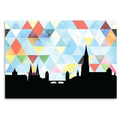 Americanflat 'Strasbourg Triangle' by PaperFinch Graphic Art