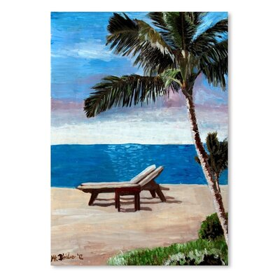 Americanflat Strand Chairs On Caribbean Beach Or' by Markus Bleichner Art Print