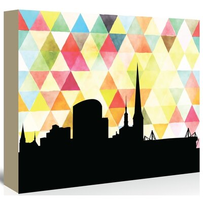 Americanflat 'Dortmund Triangle' by PaperFinch Graphic Art Wrapped on Canvas