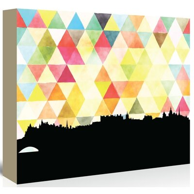 Americanflat 'Edinburgh_Triangle' by PaperFinch Graphic Art Wrapped on Canvas