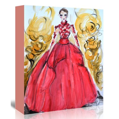 Americanflat 'Rose Gown' by Cara Francis Art Print Wrapped on Canvas