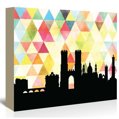 Americanflat 'Genoa_Triangle' by PaperFinch Graphic Art Wrapped on Canvas