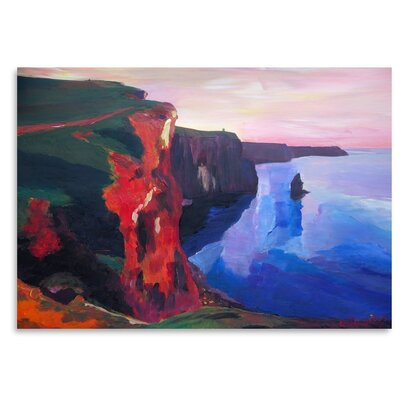 Americanflat 'Cliffs Of Moher In County Clare Ireland At Sunset Aillte An Mhothair' by M Bleichner Art Print
