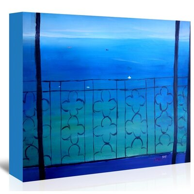 Americanflat 'Romantic Balcony In The Mediterranean' by M Bleichner Art Print Wrapped on Canvas