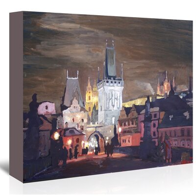 Americanflat 'Prague-Charles-Bridge-Karluv-Most' by M Bleichner Art Print Wrapped on Canvas