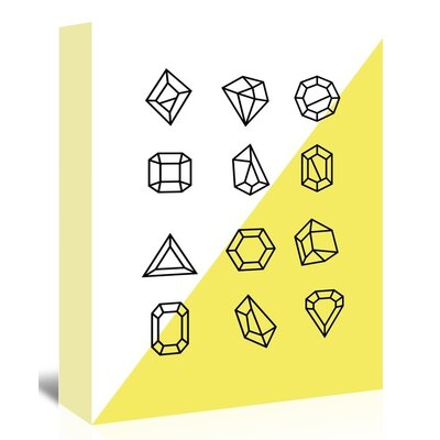 Americanflat 'Gems_12' The Glass Mountain Graphic Art Wrapped on Canvas in Yellow
