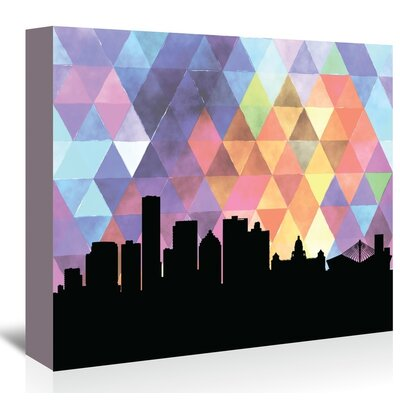 Americanflat 'Durban_Triangle' by PaperFinch Graphic Art Wrapped on Canvas