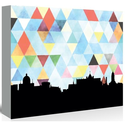 Americanflat 'Dublin_Triangle' by PaperFinch Graphic Art Wrapped on Canvas