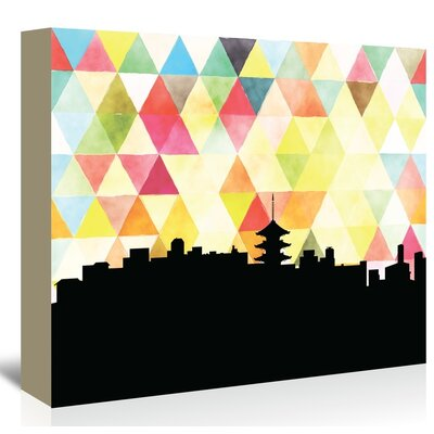 Americanflat 'Kyoto_Triangle' by PaperFinch Graphic Art Wrapped on Canvas