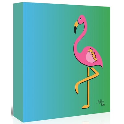 Americanflat 'Flamingo' by Ashlee Rae Graphic Art Wrapped on Canvas