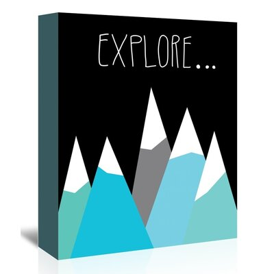 Americanflat 'Explore' by Ashlee Rae Graphic Art Wrapped on Canvas