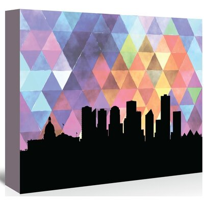 Americanflat 'Edmonton_Triangle' by PaperFinch Graphic Art Wrapped on Canvas
