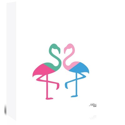 Americanflat 'Flamingo Two' by Ashlee Rae Graphic Art Wrapped on Canvas