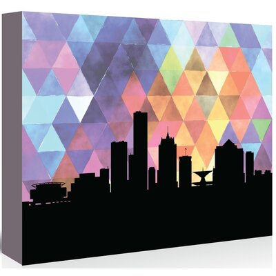 Americanflat 'Milwaukee_Triangle' by PaperFinch Graphic Art Wrapped on Canvas