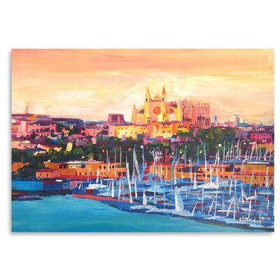 Americanflat 'Spain Balearic Island Palma De Mallorca With Harbour And Cathedral Neu' by M Bleichner Art Print