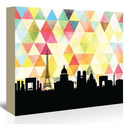 Americanflat 'Paris_Triangle' by PaperFinch Graphic Art Wrapped on Canvas