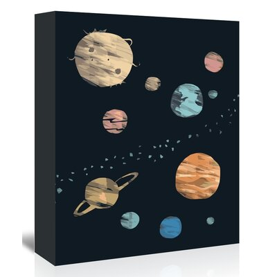 Americanflat 'Planets_Brushed' The Glass Mountain Graphic Art Wrapped on Canvas