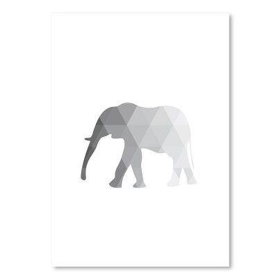 Americanflat 'Grey Elephant Up To' by Melinda Wood Graphic Art