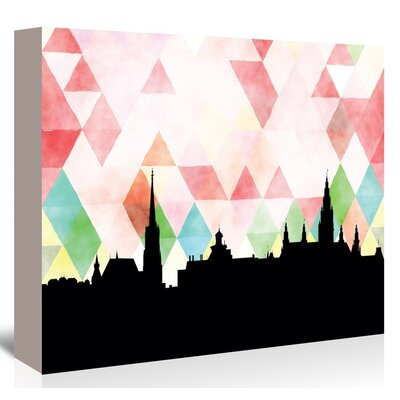 Americanflat 'Vienna_Triangle' by PaperFinch Graphic Art Wrapped on Canvas