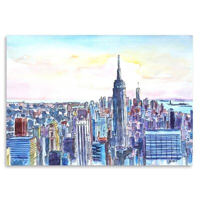 Americanflat 'NYC Manhattan Skyline Neu' by M Bleichner Art Print