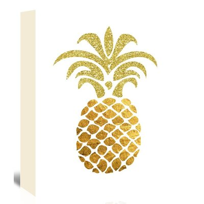 Americanflat 'Pineapple4' by Ikonolexi Graphic Art Wrapped on Canvas