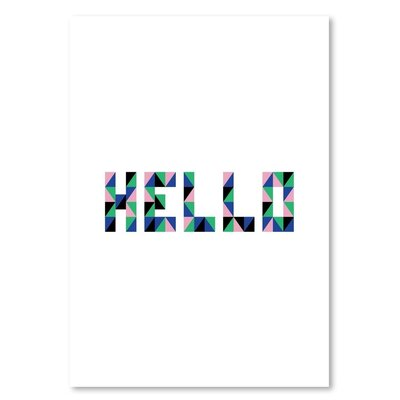 Americanflat 'Hello Geo' by Ashlee Rae Typography