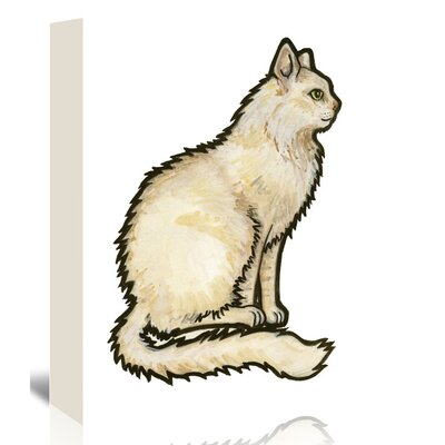 Americanflat 'Cat 1' by Sally Pattrick Art Print Wrapped on Canvas