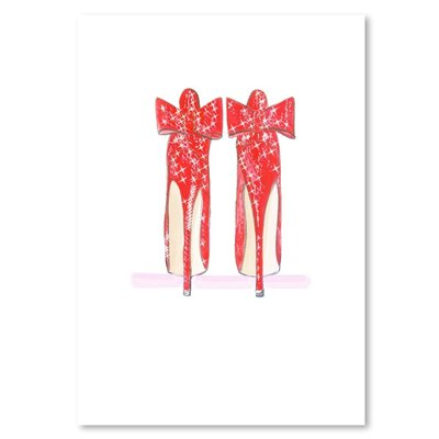 Americanflat 'Red Shoe' by Alison B Art Print