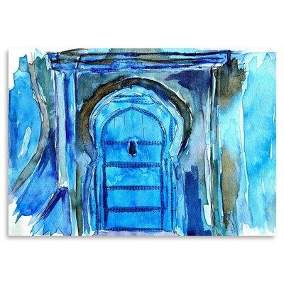 Americanflat 'Chefchaouen Morocco Blue Door' by M Bleichner Art Print
