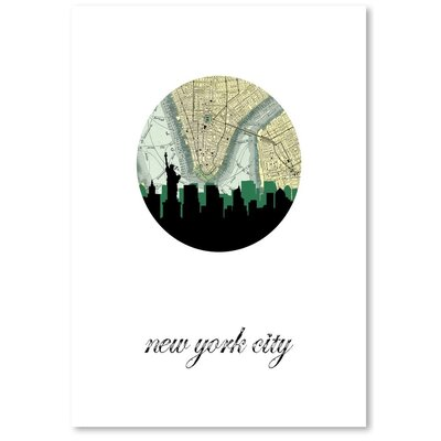 Americanflat 'NYC Map Skyline' by PaperFinch Graphic Art