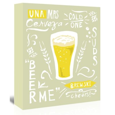 Americanflat 'Beertypography' by The Glass Mountain Graphic Art Wrapped on Canvas