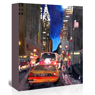 Americanflat Chryslerstreetscene2' by Markus Bleichner Art Print Wrapped on Canvas