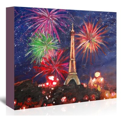 Americanflat 'Paris Silvester' by M Bleichner Art Print Wrapped on Canvas