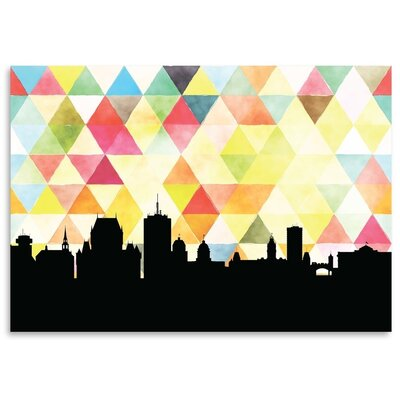 Americanflat 'Quebec Triangle' by PaperFinch Graphic Art
