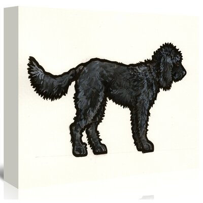 Americanflat 'Labradoodle Black' by Sally Pattrick Art Print Wrapped on Canvas
