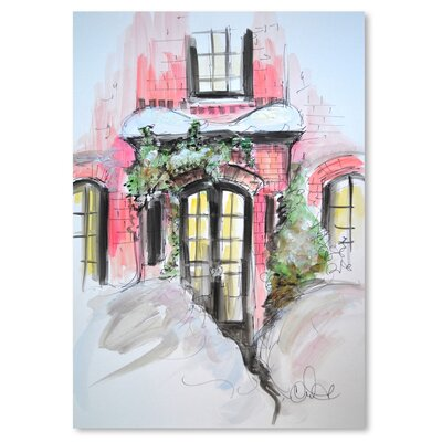 Americanflat 'Snowy Bricks in Beacon Hill' by Cara Francis Art Print
