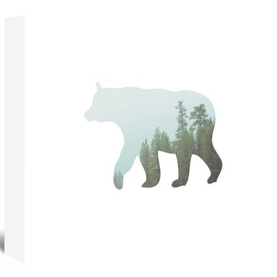 Americanflat 'Bear Trees Up To' by Melinda Wood Graphic Art Wrapped on Canvas