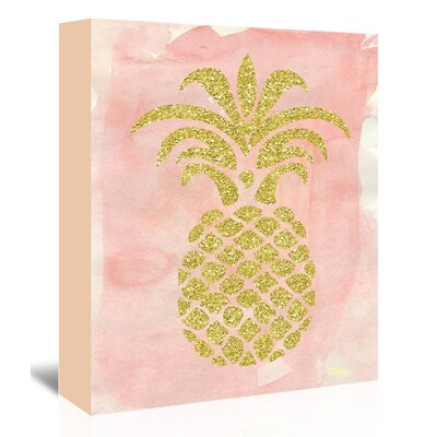 Americanflat 'Pineapple2' by Ikonolexi Graphic Art Wrapped on Canvas